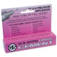 GS Hypo Fabric cement 1/3 fl oz glue